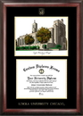 Campus Images IL970LGED Loyola University Chicago Gold embossed diploma frame with Campus Images lithograph