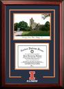 Campus Images IL976SG University of Illinois - Urbana-Champaign  Spirit Graduate Frame with Campus Image