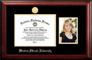 Campus Images IL978PGED-1185 Western Illinois University 11w x 8.5h Gold Embossed Diploma Frame with 5 x7 Portrait