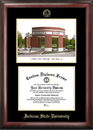 Campus Images IN986LGED Indiana State Gold embossed diploma frame with Campus Images lithograph