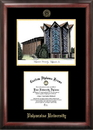 Campus Images IN991LGED Valparaiso University Gold embossed diploma frame with Campus Images lithograph