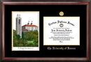 Campus Images KS999LGED University of Kansas Gold embossed diploma frame with Campus Images lithograph
