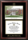 Campus Images KY984LGED Murray State University Gold embossed diploma frame with Campus Images lithograph
