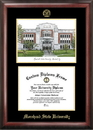Campus Images KY985LGED Morehead State University Gold embossed diploma frame with Campus Images lithograph