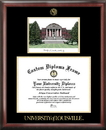 Campus Images KY997LGED University of Louisville Gold embossed diploma frame with Campus Images lithograph
