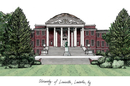 Campus Images KY997 University of Louisville Campus Images Lithograph Print