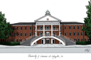 Campus Images LA993 University of Louisiana-Lafayette Campus Images Lithograph Print