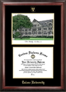 Campus Images LA995LGED Tulane University Gold embossed diploma frame with Campus Images lithograph