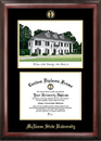 Campus Images LA996LGED McNeese State University Gold embossed diploma frame with Campus Images lithograph
