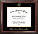 Campus Images MA990GED University of Massachusetts Gold Embossed Diploma Frame