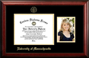 Campus Images MA990PGED-1185 University of Massachusetts 11w x 8.5h Gold Embossed Diploma Frame with 5 x7 Portrait