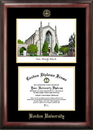 Campus Images MA993LGED Boston University Gold embossed diploma frame with Campus Images lithograph