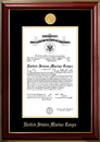 Campus Images MACCL001 Patriot Frames Marine 10x14 Certificate Classic Mahogany Frame with Gold Medallion