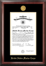 Campus Images MACG001 Marine Corp Commission Frame Gold Medallion