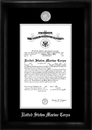 Campus Images MACS002 Marine Corp Commission Frame Silver Medallion