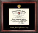 Campus Images MADG001 Marine Corp Discharge Frame Gold Medallion