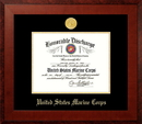 Campus Images MADHO001 Patriot Frames Marine 8.5x11 Discharge Honors Frame with Gold Medallion