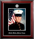 Campus Images MAPCL002 Patriot Frames Marine 8x10 Portrait Classic Black Frame with Silver Medallion