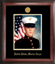 Campus Images MAPG001 Marine Corp Portrait Frame Gold Medallion