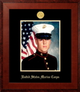 Campus Images MAPHO001 Patriot Frames Marine 8x10 Portrait Honors Frame with Gold Medallion