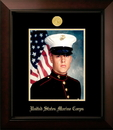 Campus Images MAPLG001 Patriot Frames Marine 8x10 Portrait Legacy Frame with Gold Medallion