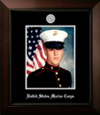 Campus Images MAPLG002 Patriot Frames Marine 8x10  Portrait Legacy Frame with Silver Medallion