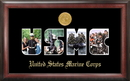 Campus Images MASSG001 Marine Corp Collage Photo Frame Gold Medallion
