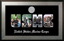 Campus Images MASSHO002S Patriot Frames Marine Collage Photo Honors Frame with Silver Medallion