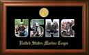 Campus Images MASSW002S Patriot Frames Marine Collage Photo Walnut Frame Gold Medallion