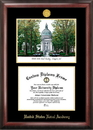 Campus Images MD997LGED United States Naval Academy Gold embossed diploma frame with Campus Images lithograph