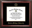 Campus Images MI981GED Western Michigan University Gold Embossed Diploma Frame