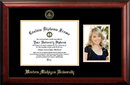 Campus Images MI981PGED-1185 Western Michigan University 11w x 8.5h Gold Embossed Diploma Frame with 5 x7 Portrait