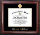 Campus Images MI982GED University of Michigan Gold Embossed Diploma Frame