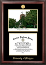 Campus Images MI982LGED University of Michigan Gold embossed diploma frame with Campus Images lithograph