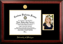 Campus Images MI982PGED-1411 University of Michigan 14w x 11h Gold Embossed Diploma Frame with 5 x7 Portrait