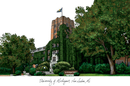 Campus Images MI982 University of Michigan Campus Images Lithograph Print