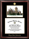Campus Images MI983LGED Wayne State University Gold embossed diploma frame with Campus Images lithograph