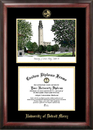 Campus Images MI985LGED University Of Detroit, Mercy Gold Embossed Diploma Frame with Campus Images Lithograph