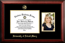 Campus Images MI985PGED-1185 University Of Detroit, Mercy 11w x 8.5h Gold Embossed Diploma Frame with 5 x7 Portrait