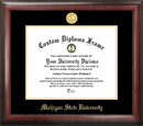 Campus Images MI987GED Michigan State Gold Embossed Diploma Frame