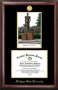 Campus Images MI987LGED  Michigan State University - Spartan - Gold embossed diploma frame with Campus Images lithograph