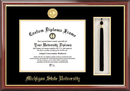 Campus Images MI987PMHGT Michigan State University, Spartan, Tassel Box and Diploma Frame