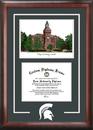 Campus Images MI988SG Michigan State University - Linton Hall -  Spirit Graduate Frame with Campus Image