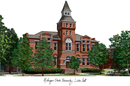 Campus Images MI988 Michigan State University - Linton Hall - Campus Images Lithograph Print