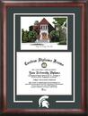 Campus Images MI990SG Michigan State University Alumni Chapel Spirit Graduate Frame with Campus Image
