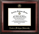 Campus Images MI995GED Eastern Michigan University Gold Embossed Diploma Frame