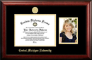 Campus Images MI999PGED-1185 Central Michigan University 11w x 8.5h Gold Embossed Diploma Frame with 5 x7 Portrait