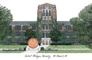 Campus Images MI999 Central Michigan University Campus Images Lithograph Print