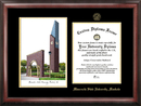 Campus Images MN997LGED Minnesota State University Mankato Gold embossed diploma frame with Campus Images lithograph