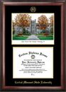 Campus Images MO995LGED University Central Missouri Gold embossed diploma frame with Campus Images lithograph